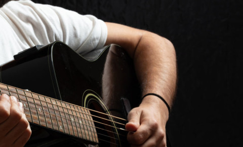 Playing acoustic guitar music musician 123rf