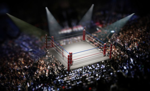 Empty boxing ring surrounded by spectators 123rf 123rfSport