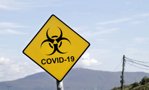 Covid-19 Warning sign 123rf