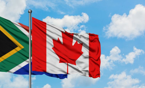 South African Canadian flags Canada South Africa flag 123rf