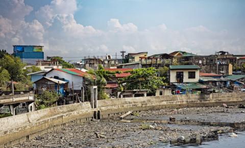 Shacks Poverty streets Manila capital of the Philippines 123rf