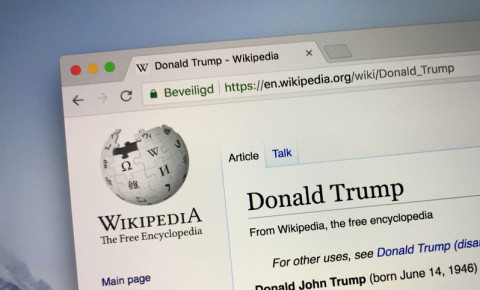 Wikipedia Donald Trump 123rf