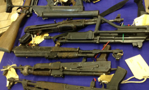 Illegal guns seized by police