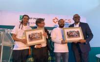 US activist Forest Whitaker is pictured with young peacemakers in Cape Town on 14 November 2019. Picture: Kaylynn Palm/EWN