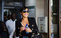 Media personality Bonang Matheba leaves the Specialised Commercial Crime Court on 14 November 2018. Picture: Kayleen Morgan/EWN