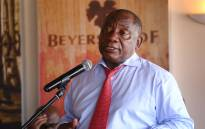 President Cyril Ramaphosa addresses farmers at the Beyerskloof wine farm in Stellenbosch on 9 April 2019. Picture: Bertram Malgas/EWN