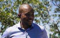 DA leader Mmusi Maimane outside Tlhabologo Opportunity Centre in Diepsloot. Picture: Kayleen Morgan/EWN
