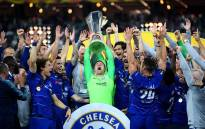 Chelsea players celebrate their victory over Arsenal in the Uefa Europa League final on 29 May 2019 in Baku, Azerbaijan. Picture: @ChelseaFC/Twitter