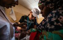A child in Niger receives vaccination against polio. Picture: @Unicefniger/Twitter.