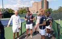Members of Team South Africa get ready for their Davis Cup tie against Venezuela in New York. Picture: @TennisSA/Twitter