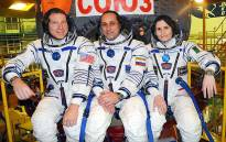 FILE: Nasa's Terry Virts, Russia's Anton Shkaplerov and first-time flier Samantha Cristoforetti from Italy before boarding the Soyuz capsule which lifted off from Kazakhstan on 23 November 2014. Picture: Nasa Facebook page.