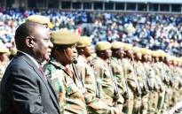 President Cyril Ramaphosa reviews members of the SANDF on parade at Loftus Versfeld Stadium during his inauguration on 25 May 2019. Picture: @SANDFCorpEvents/Twitter