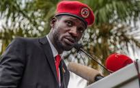 FILE: Singer turned politician Robert Kyagulanyi, also known as Bobi Wine speaks during a press conference, held at his home in Magere in the outskirts of Kampala, on 24 July 2019. Picture: AFP