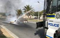 Disgruntled Ocean View residents are protesting against evictions that have been carried out in the community. Picture: Kevin Brandt/EWN