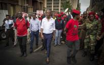 FILE: EFF leader Julius Malema leaves the Pretoria High Court. Picture: Thomas Holder/EWN.