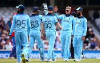 World Cup hosts, England celebrate taking a wicket in a warm up match against Afghanistan on 28 May 2019. Picture : @cricketworldcup/Twitter