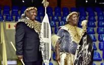 President Cyril Ramaphosa hands over 4,586 hectares of land to the community of KwaMkhwanazi in Empangeni, KwaZulu-Natal. Picture: @SAgovnews/Twitter.
