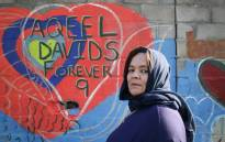 ShanaazDavids, the grandmother of Aqeel Davids, said the wall would bring honour to the innocent lives lost to gang violence in the community. Picture: Bertram Malgas/EWN.