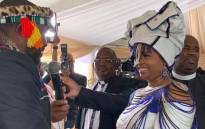 Presidency spoken Khusela Diko and her husband, amaBhaca King Madzikane II Diko at their wedding in 2018. Picture: Twitter