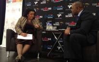 Environmental Affairs Minister Edna Molewa speaking at the New Age breakfast on 11 June 2012. Picture: Jacob Moshokoa/EWN