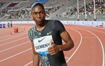 Caster Semenya celebrates after winning the women's 800m during the IAAF Diamond League competition on 3 May 2019 in Doha. Picture: AFP
