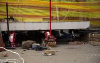 FILE: The scene where a walkway collapsed at Hoërskool Driehoek, killing four children. Picture: Christa Eybers/EWN.