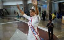 Candice Abrhams arrived at the O.R Tambo International airport this morning from China. Picture: Kgothatso Mogale/EWN
