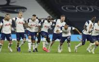 Tottenham players celebrate their League Cup penalty shootout win over Chelsea on 29 September 2020. Picture: @SpursOfficial/Twitter