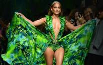 FILE: US singer Jennifer Lopez presents a creation for Versace's Women's Spring Summer 2020 collection in Milan on 20 September 2019. Picture: AFP