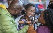Bathabile Dlamini being interviewed by journalists at Loftus Versfeld Stadium ahead of the inauguration of Cyril Ramaphosa as the sixth democratically elected president on 25 May 2019. Picture: Abigail Javier/EWN