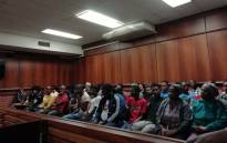 A packed Verulam Magistrates Court during the bail application hearing on 20 June 2019 of the men accused of murdering two Durban metro police officers. Picture: Nkosikhona Duma/EWN.
