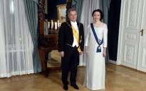 President of the Republic of Finland Sauli Niinisto and his wife Jenni Haukio pose ahead of the Independence Day reception in Helsinki, Finland on 6 December 2018. Picture: AFP