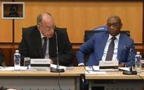 A screengrab of the Nugent Commission of Inquiry into Sars on 26 September 2018.