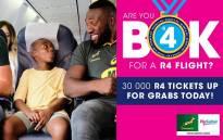 FlySafair R4 ticket sale. Picture: @FlySafair/Twitter.