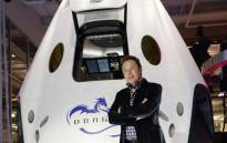FILE: SpaceX CEO Elon Musk introduces SpaceX's Dragon V2 spacecraft. Picture: AFP.