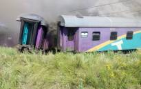 The wreckage of the Shosholoza Meyl locomotive involved in a crash with a truck on 4 January, 2018 near Kroonstad. Picture: Supplied.