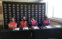 From L to R: Liam Livingstone, Moeen Ali, Quinton de Kock, Ashwell Prince. Picture: Ayanda Felem/EWN.