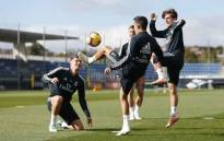 Real Madrid players during a training session. Picture: @realmadriden/Twitter.