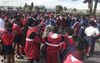 Bloekombos Secondary School in Kraaifontein protested on 16 May 2019 and complained about overcrowding in classrooms. Picture: Lauren Isaacs/EWN.