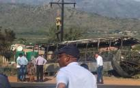 Police at the scene of a deadly attack that claimed the lives of six mineworkers in Limpopo. Picture: SAPS.