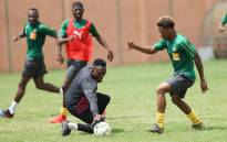 Members of Cameroon's national football club practice ahead of the 2019 Africa Cup of Nations qualifiers. Picture: @FecafootOfficie/Twitter