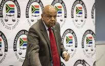 Public Enterprises Minister Pravin Gordhan continues his testimony at the commission of inquiry into state capture held at the Hill on Empire offices. Picture: Abigail Javier/EWN