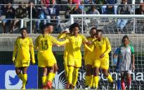 Banyana Banyana celebrate a goal in their Cosafa Women's Championship match against Madagascar on 12 September 2018. Picture: @Banyana_Banyana/Twitter