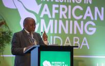 Minister of Mineral Resources and Energy Gwede Mantashe addressing the annual Investing in Africa Mining Indaba on 3 February 2020 at the Cape Town International Convention Centre. Picture: @GwedeMantashe1/Twitter