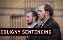 Pieter Doorewaard and Phillip Schutte in the North West High Court for sentencing on 6 March 2019. Picture: Abigail Javier/EWN