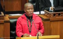 FILE: EFF leader Julius Malema in Parliament. Picture: @ParliamentofRSA/Twitter