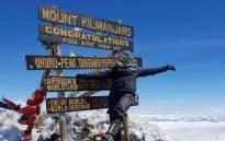 Mrs SA, Nicole Capper, reaches the peak of Mount Kilimanjaro. Picture: Nicole Capper/Instagram