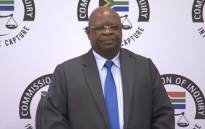 A screengrab of Deputy Chief justice Raymond Zondo at the state capture commission of inquiry. Picture: YouTube.