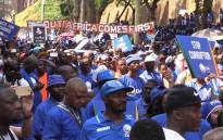 Thousands of DA supporters and leaders marched to the ConCourt where they called for the president to vacate his office.Picture:Kgothatso Mogale/EWN