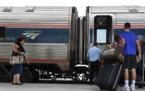 Passengers board the Amtrak train at the Miami station on 24 May 2017 in Miami, Florida. Picture: AFP